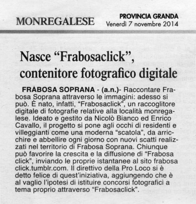 articolo ProvinciaGranda Frabosaclick