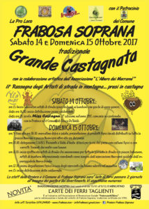 Locandina Castagnata 2017